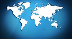 Предпосылка карты мира названия Стоковое Фото