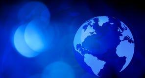 Предпосылка карты мира новостей Стоковое Изображение