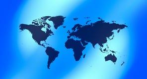 Предпосылка карты мира технологии голубая Стоковые Изображения RF