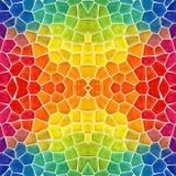 Предпосылка калейдоскопа мозаики безшовная - покрашенный спектр радуги полного цвета иллюстрация вектора