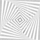 Предпосылка квадрата twirl дизайна monochrome Стоковые Фотографии RF
