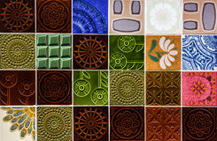 Предпосылка керамических плиток декоративная абстрактная Стоковое Изображение RF