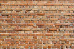 Предпосылка кирпичной стены Orangey красная Стоковые Изображения RF