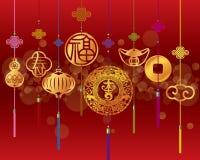 Предпосылка китайского Нового Года декоративная Стоковое Фото