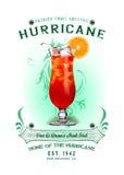 Предпосылка коктеиля урагана собрания NOLA Стоковое Изображение