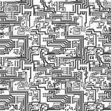 Patter вектора монтажной платы безшовный технологический Стоковая Фотография
