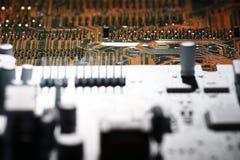 Предпосылка компьютерной микросхемы микроэлектроники Стоковые Изображения RF