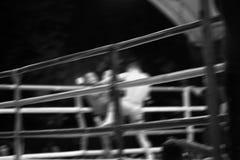 Предпосылка конспекта деятельности при бокса Движение нерезкости Стоковое фото RF