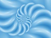 Предпосылка конспекта искусства цифров голубая лоснистая спиральная Стоковые Изображения
