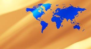 Предпосылка конспекта карты мира золота Стоковая Фотография RF