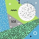 Предпосылка конспекта Мемфиса Свадьба, годовщина, день рождения, праздник, партия, летнее время Дизайн для плаката, карточки, при Стоковое Изображение