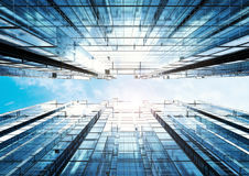 Предпосылка конспекта офисного здания Highrise Стоковое Изображение