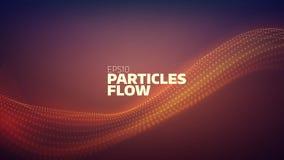 Предпосылка конспекта подачи частицы Звуковая война Поток данных иллюстрация вектора
