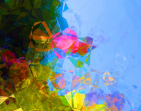 Предпосылка конспекта полигона голубого зеленого цвета Стоковые Изображения RF