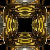 Предпосылка конспекта темы космоса творческая конструкция иллюстрация 3d Иллюстрация вектора