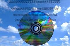 Предпосылка конспекта технологии диска Стоковое Изображение