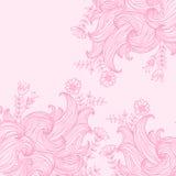 Предпосылка конспекта цвета вектора нарисованная вручную с волнами Стоковое Фото