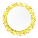 Предпосылка конспекта яркого блеска золота вектора Стоковая Фотография RF