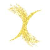 Предпосылка конспекта яркого блеска золота вектора Стоковые Фото