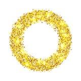 Предпосылка конспекта яркого блеска золота вектора Стоковое Изображение