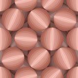 предпосылка конспекта 3D шариков Безшовная картина от круглого obj Стоковые Фотографии RF