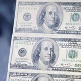 Предпосылка конца денег вверх долларовой банкноты Стоковое Изображение