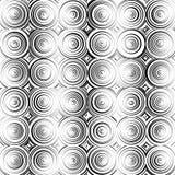 Предпосылка концентрических кругов monochrome абстрактная излучать cir Стоковое фото RF