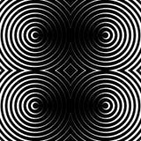 Предпосылка концентрических кругов monochrome абстрактная излучать cir Стоковые Фото