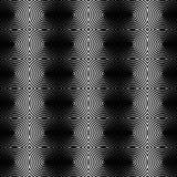 Предпосылка концентрических кругов monochrome абстрактная излучать cir Стоковое Изображение RF