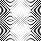 Предпосылка концентрических кругов monochrome абстрактная излучать cir Стоковая Фотография RF