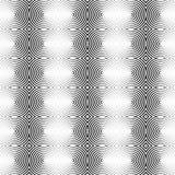 Предпосылка концентрических кругов monochrome абстрактная излучать cir Стоковое Изображение