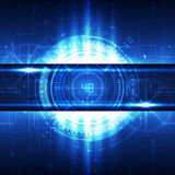 Предпосылка концепции абстрактной будущей технологии цифровая, вектор Стоковое фото RF