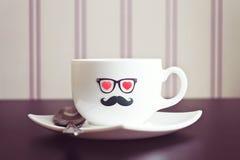 Предпосылка концепции битника кофейной чашки Стоковая Фотография RF