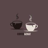 Предпосылка концепции болтовни кофейной чашки бесплатная иллюстрация