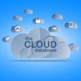 Предпосылка концепции облака вычисляя Стоковые Изображения