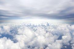 Предпосылка концепции рая 1 предпосылка заволакивает пасмурное небо Стоковые Фотографии RF