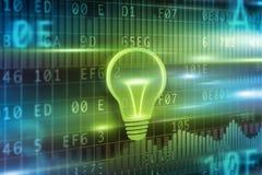 Предпосылка концепции электрической лампочки Стоковое Фото