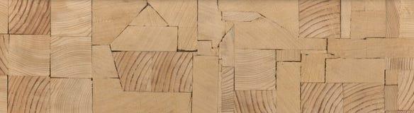 Предпосылка - концы деревянных балок, склеенной панели мебели Стоковые Фотографии RF