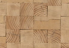 Предпосылка - концы деревянных балок, склеенной панели мебели Стоковая Фотография