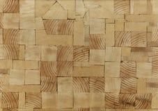 Предпосылка - концы деревянных балок, склеенной панели мебели Стоковые Изображения
