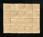 Предпосылка - концы деревянных балок, склеенной панели мебели Стоковое Фото