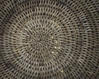 Предпосылка корзины Weave при свет shinning до конца Стоковое Изображение