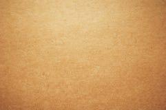 Предпосылка коричневой бумаги Kraft Стоковое Изображение