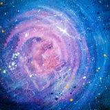 Предпосылка космоса абстрактная. Красочные краска и света фрактали дальше Стоковое Изображение RF