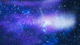 Предпосылка космоса абстракции для дизайна Мистический свет Стоковые Фото