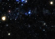 Предпосылка космоса абстракции для дизайна Мистический свет Стоковые Изображения RF