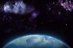 Предпосылка космоса абстракции для дизайна Мистический свет Стоковые Изображения