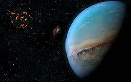 Предпосылка космоса Стоковые Изображения