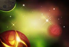 Предпосылка космоса Scifi для игры Ui иллюстрация штока