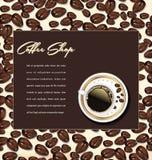 Предпосылка кофейни иллюстрация штока